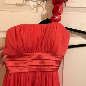 Two dresses in sz S coral/pink color